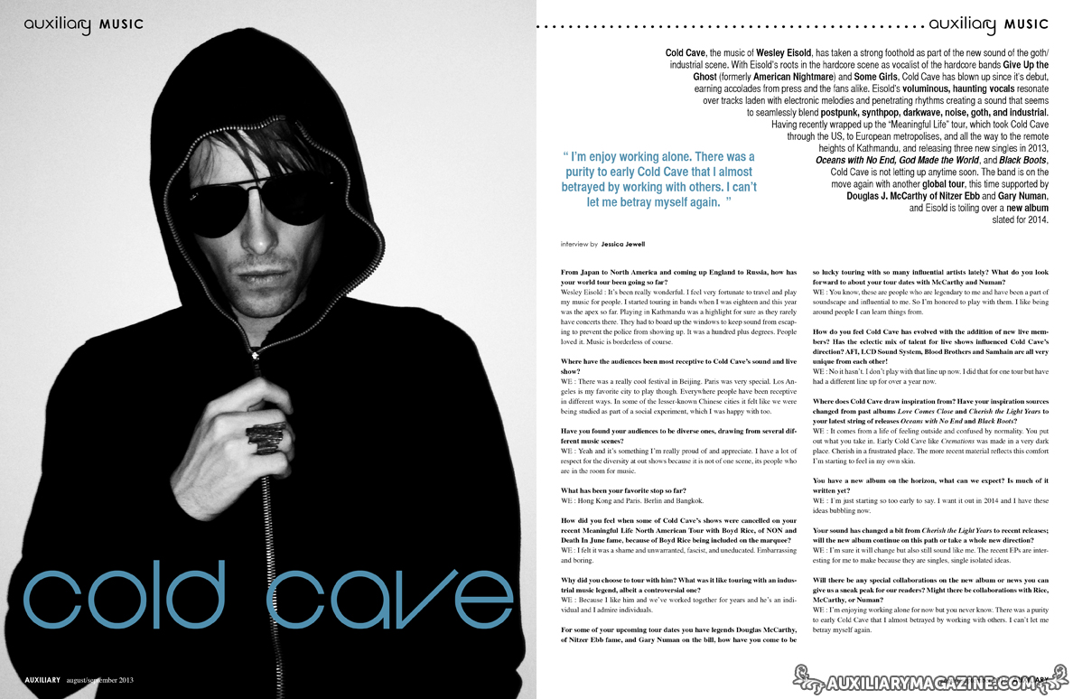 interview : Cold Cave