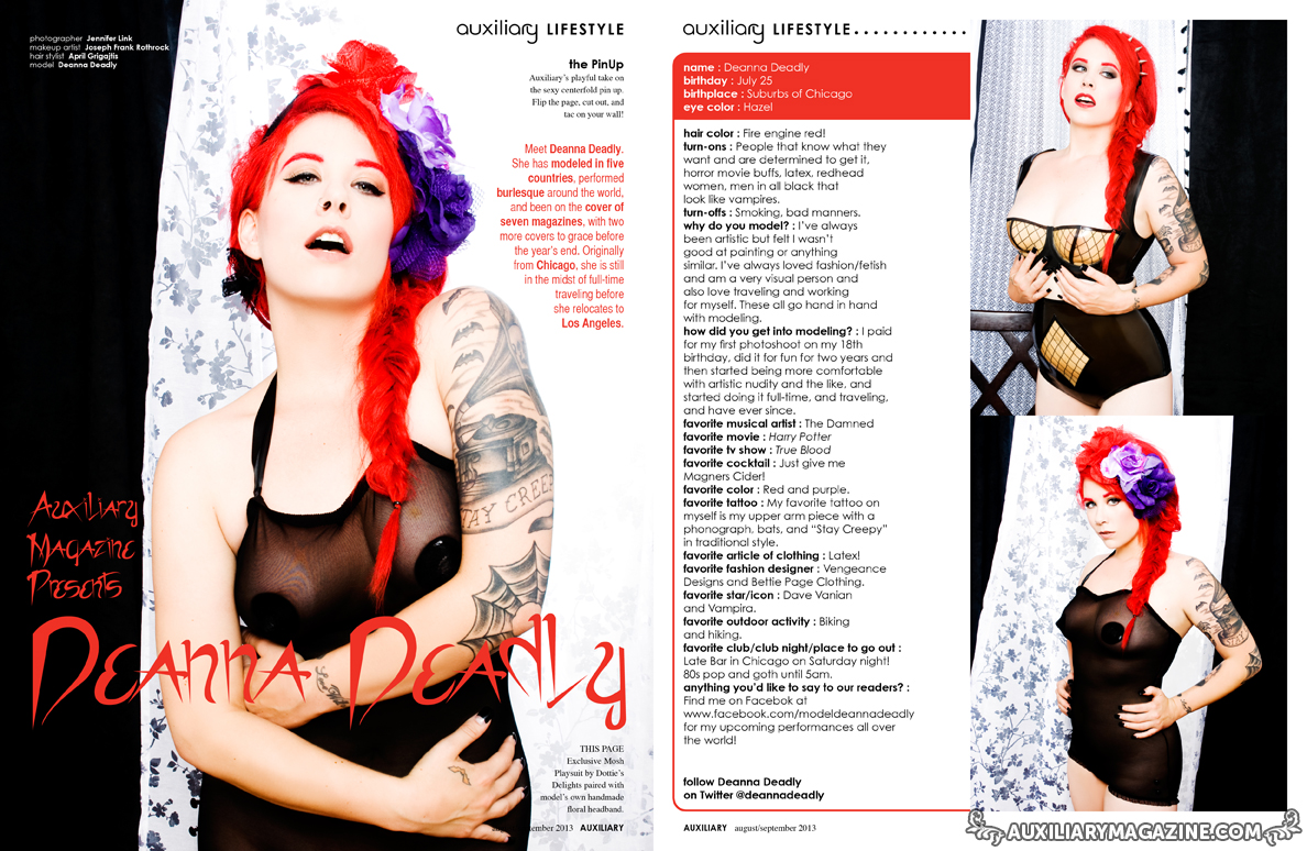 the PinUp : Deanna Deadly
