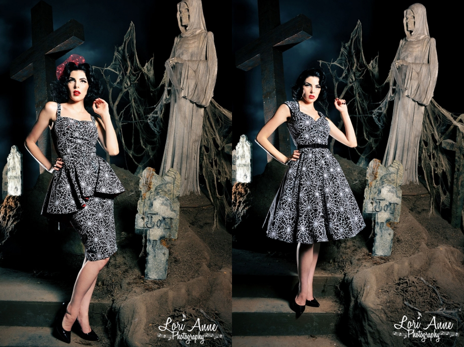 fashion find : Pinup Girl Clothing Vintage Goth Pinup Capsule Collection