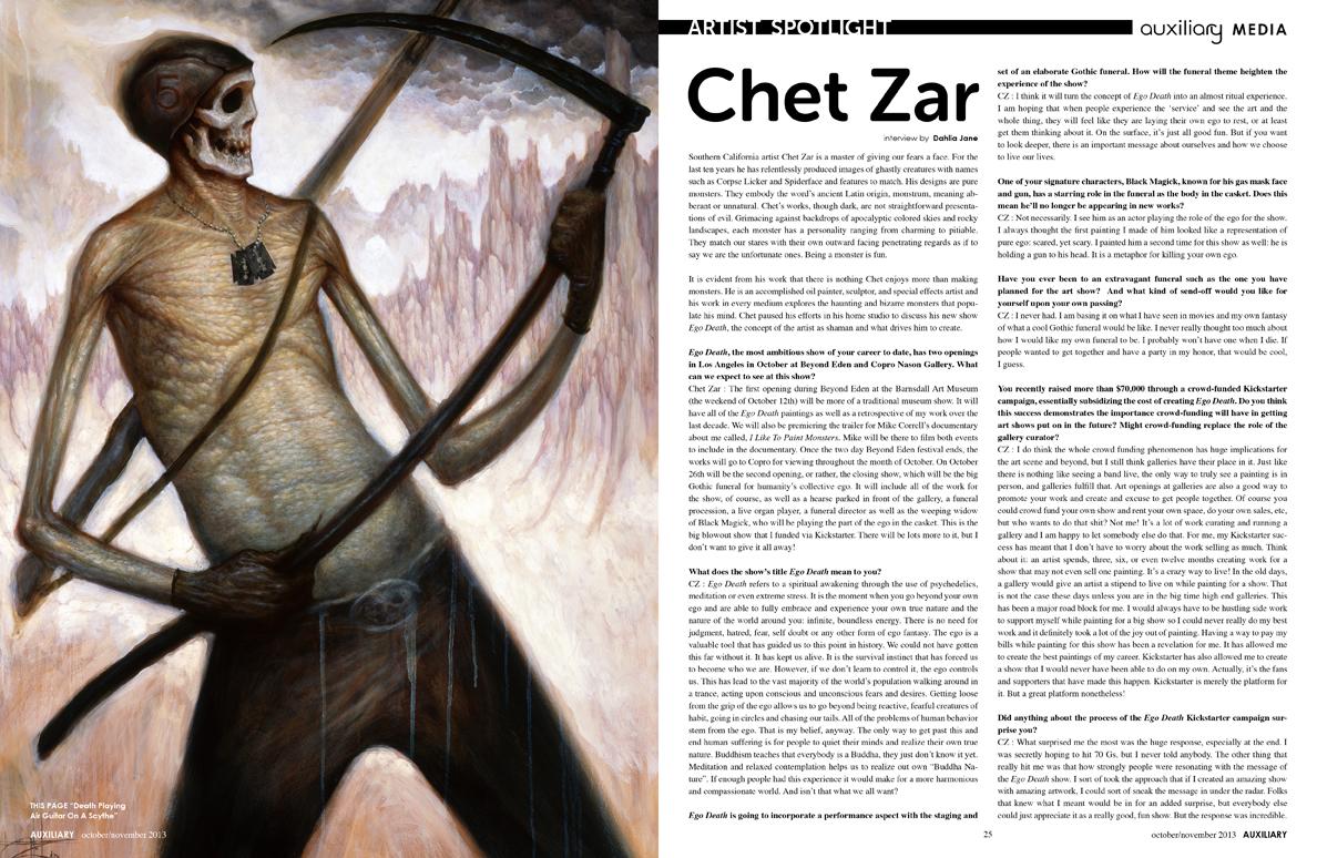 artist spotlight : Chet Zar