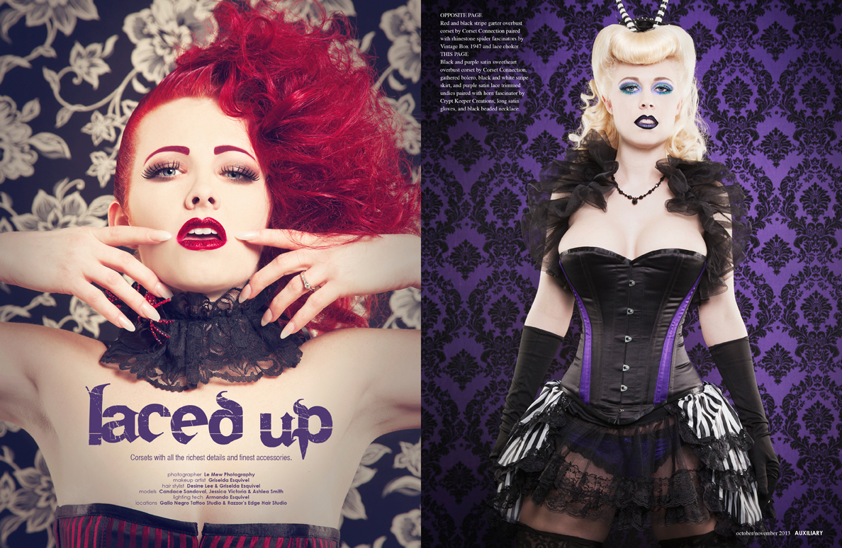 fashion editorial : Laced Up