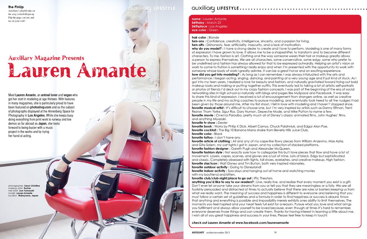 the PinUp : Lauren Amante