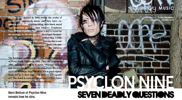 seven deadly questions : Psyclon Nine