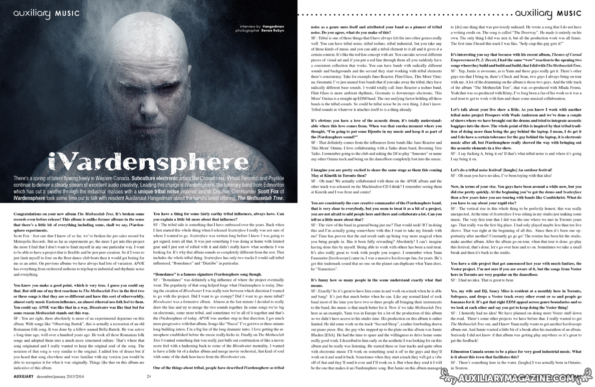 interview : iVardensphere