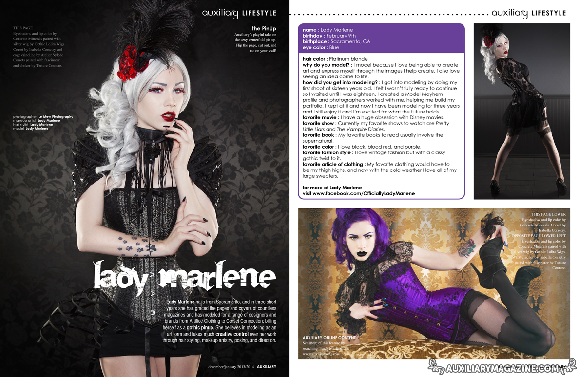 the PinUp : Lady Marlene