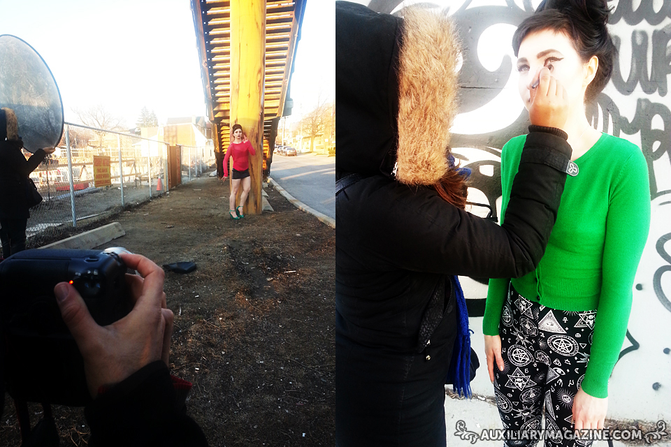 behind the scenes : June/July 2014 fashion editorial