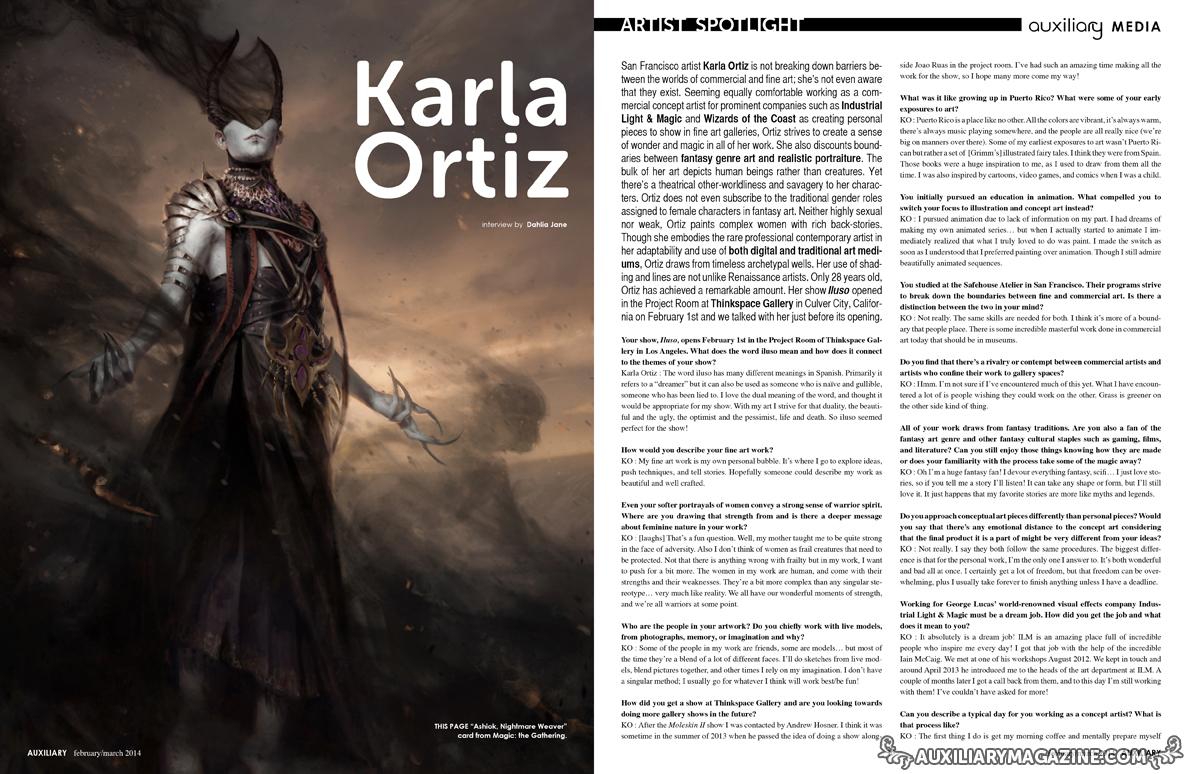 An interview with artist Karla Ortiz