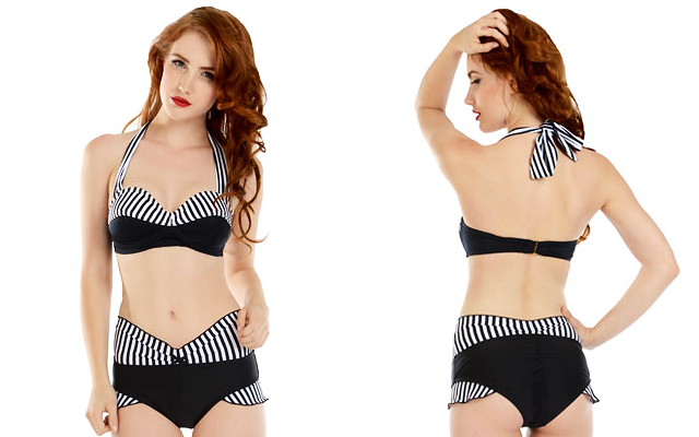 item of the week : Black White Stripes Yvette Swim Bra and Yacht Bottom by Fables by Barrie