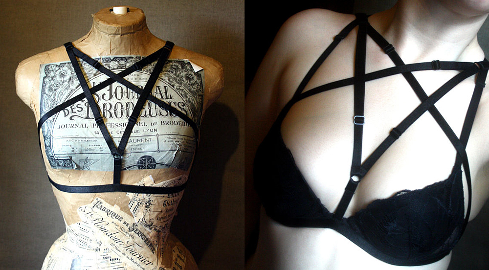 item of the week : Lovecraft Black Cage Bra by Battie Clothing