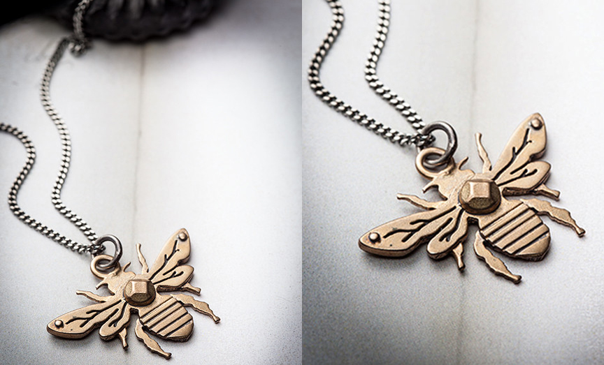 item of the week : Honey Bee Necklace by Missy Industry
