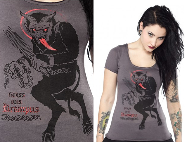 item of the week : Gruss Vom Krampus Tee by Sourpuss
