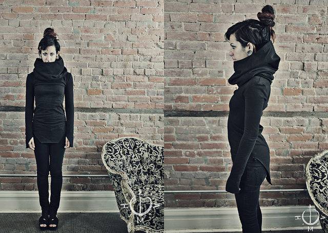 item of the week : Herald Long Sleeve Cowl Neck Top by Helmouth Apparel