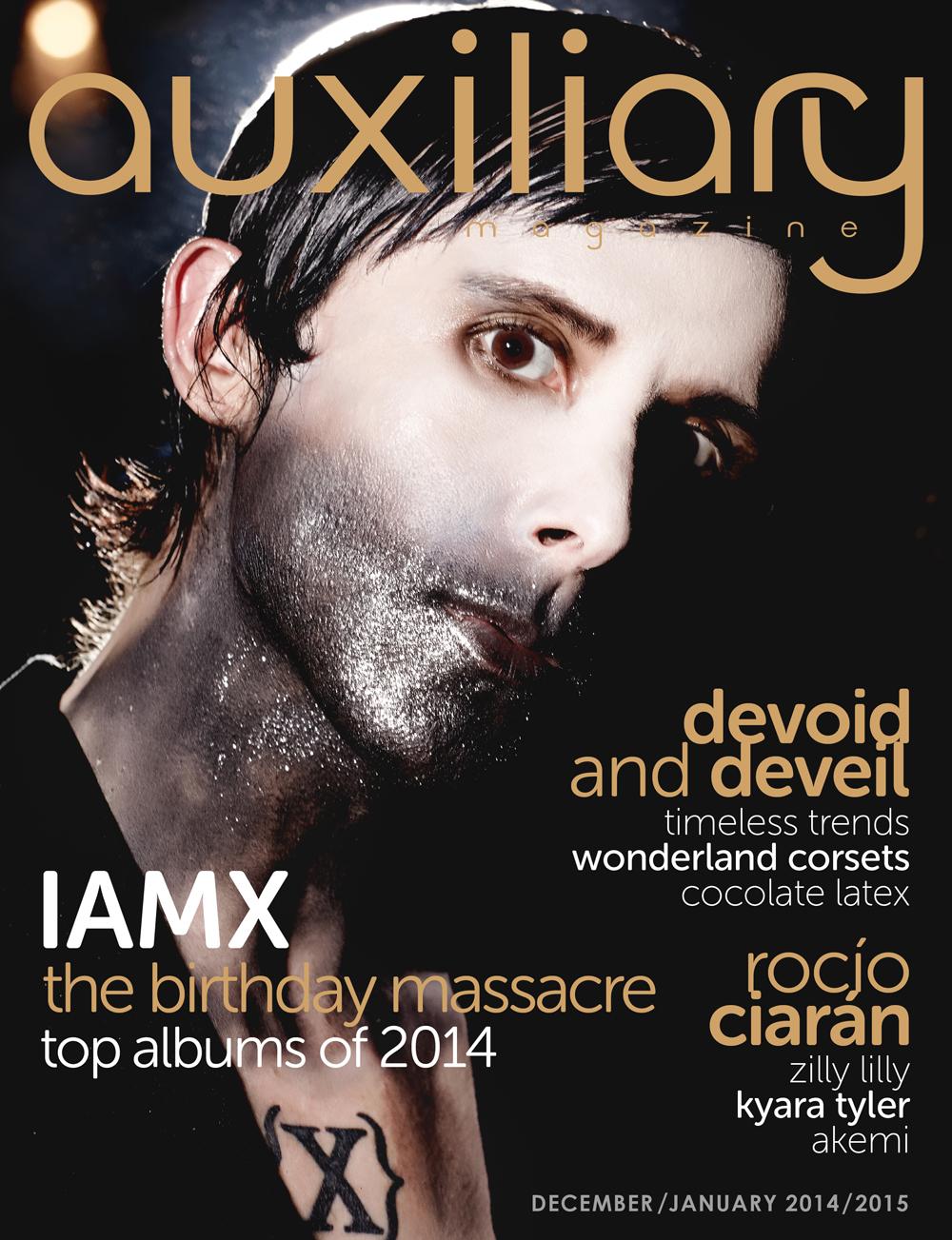 Auxiliary Magazine December/January 2014/215 cover IAMX