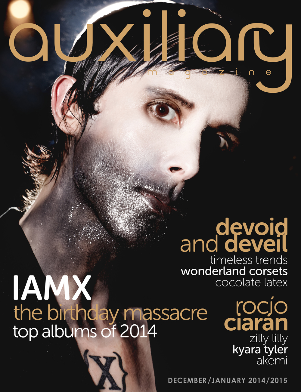 Auxiliary Magazine December/January 2014/215 cover IAMX