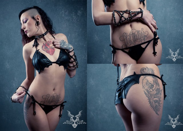 Vampire Bat Bikini by Diktator Fashion Lab
