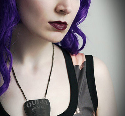 Ouija Planchette Necklace by Smarmy Clothes