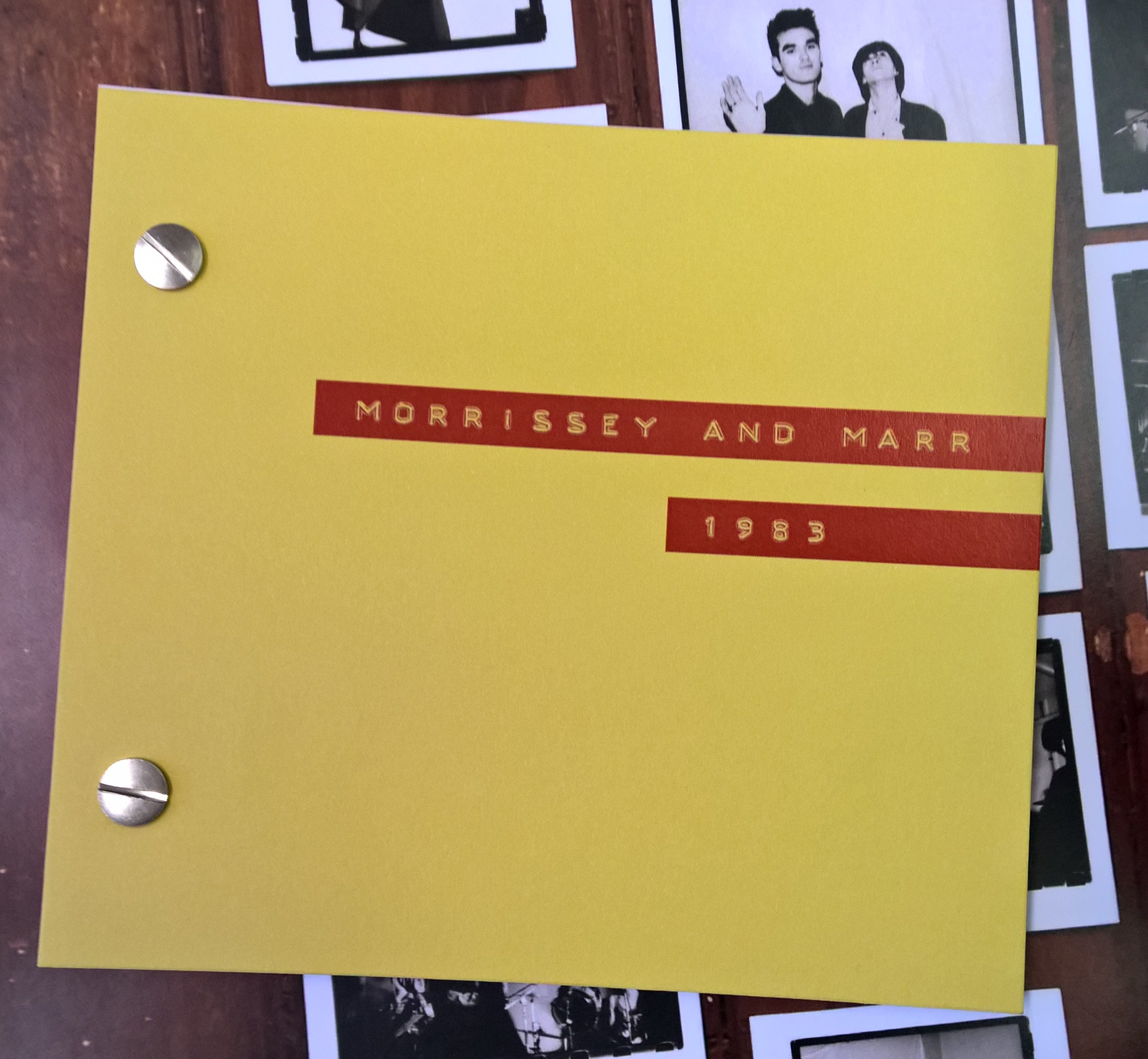 Unseen photographs of The Smiths dating to 1983. Photographs by Colin Howe. Book published by the Salford Lads Club.