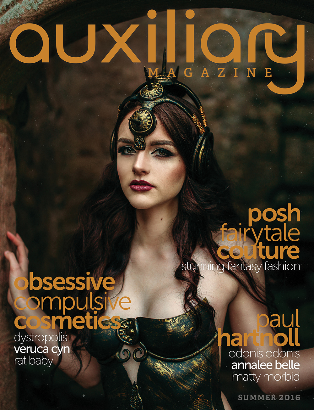 Auxiliary Magazine Summer 2016 Issue Posh Fairytale Couture