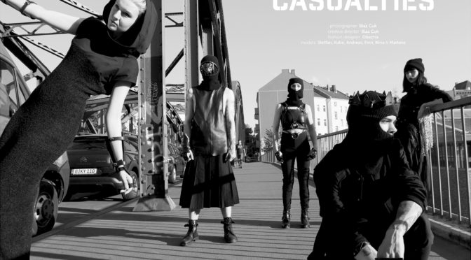 Casualties fashion editorial featuring Obectra