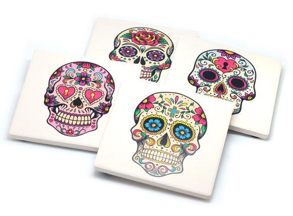 Item of the Week Clash Cases Sugar Skull Coasters