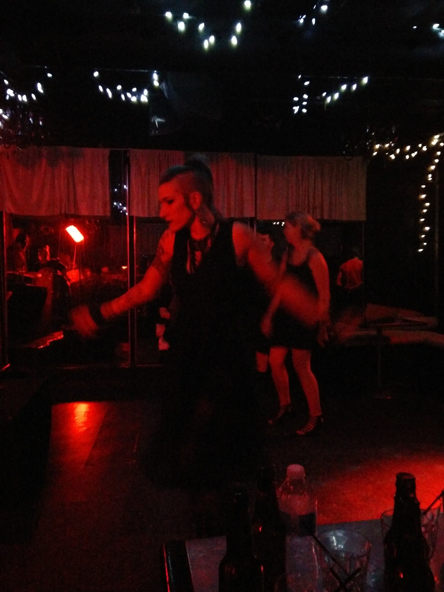Dancing at the Toronto goth night Prophecy