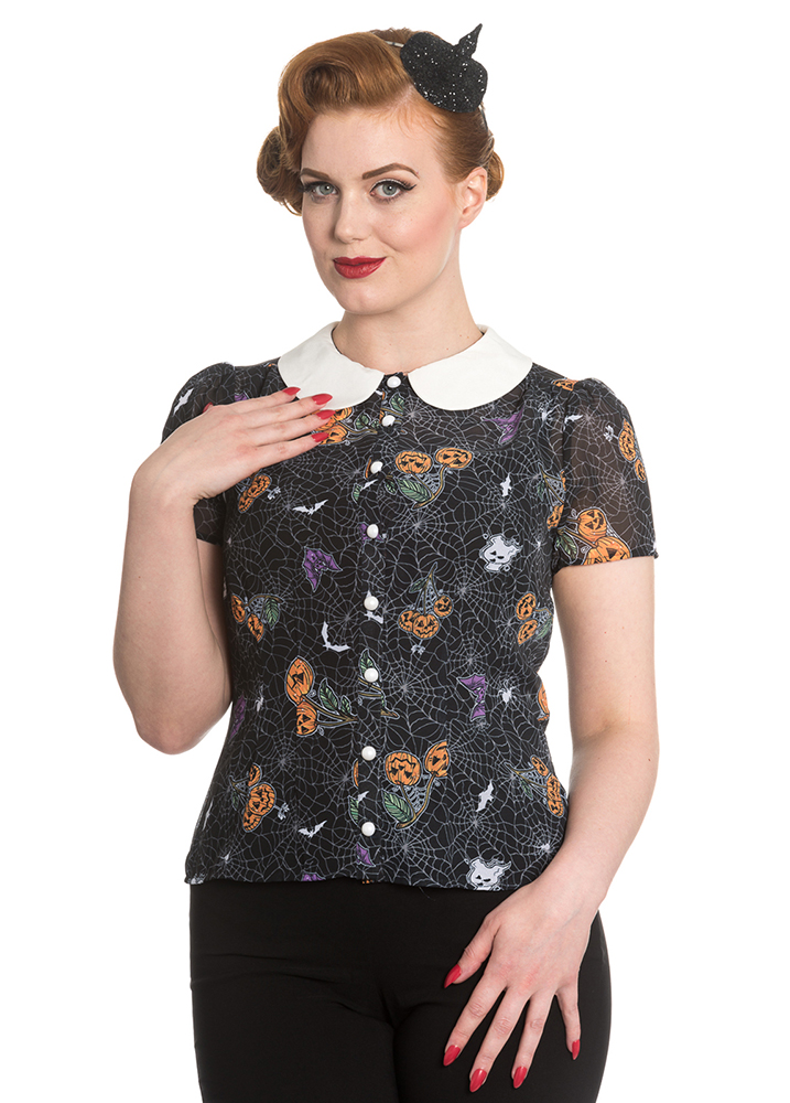 Halloween Blouse by Hell Bunny