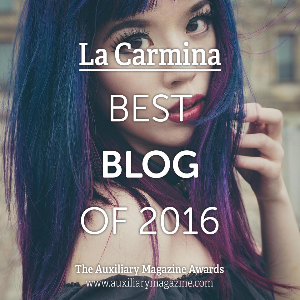 The Auxiliary Awards Best Blog of 2016 La Carmina