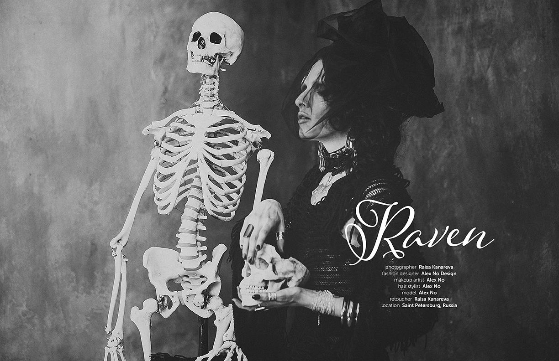 Raven men's goth fashion editorial