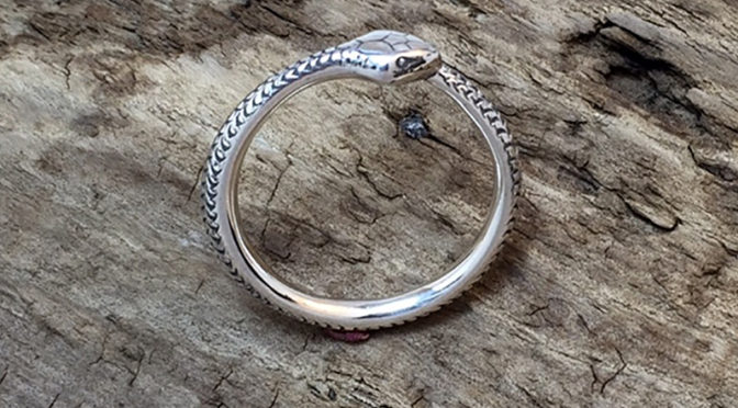 The Ouroboros Ring by Beegirlmetal is a Fresh piece for Spring