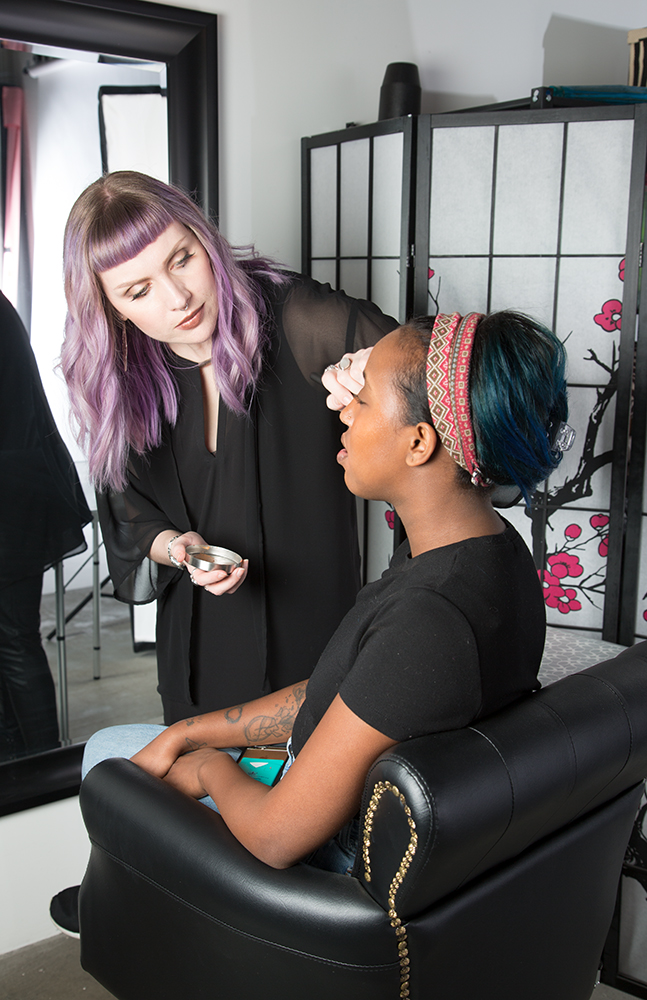 Behind the scenes of our Spring 2017 Beauty Picks photoshoot featuring Makeup Geek