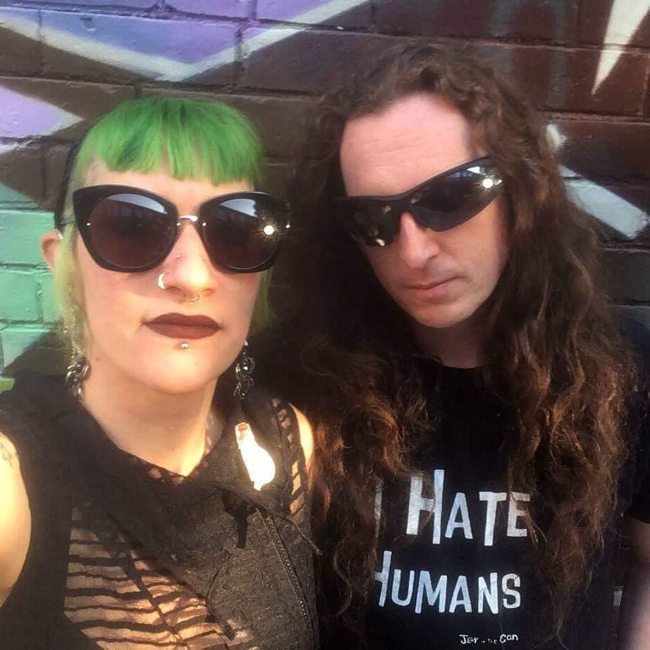 DJs Mistress McCutchan (left) and Batty von Bats (right)