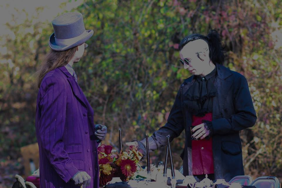 Trae (left) and The Count (right), hosts of Cemetery Confessions podcast