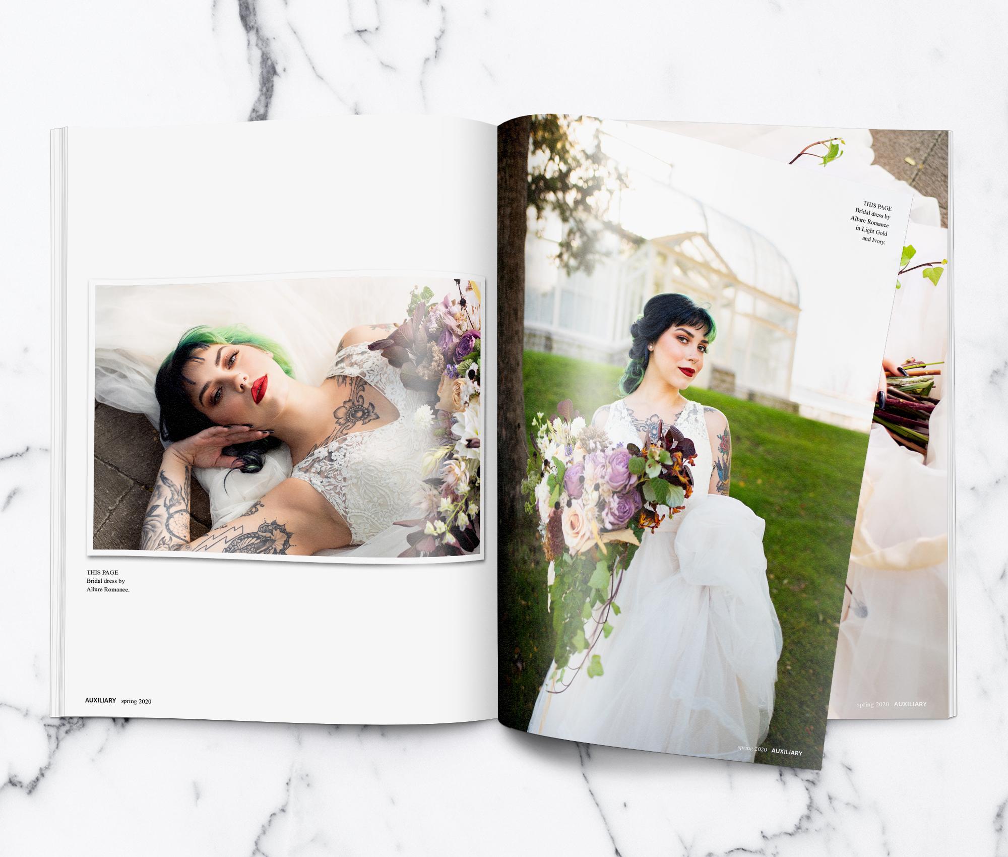 Auxiliary Magazine The Garden Alternative Wedding Fashion Editorial