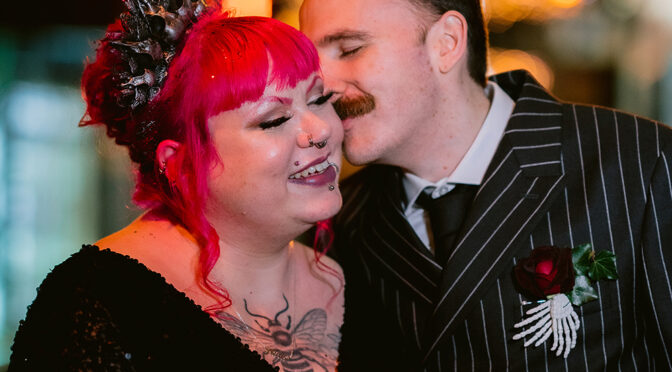 Terri-Sian and Stewart's real Bride of Frankenstein alternative wedding