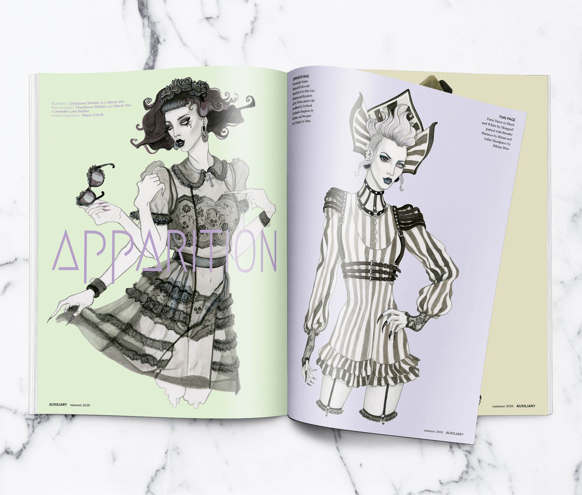 Apparition Illustrated Fashion Editorial