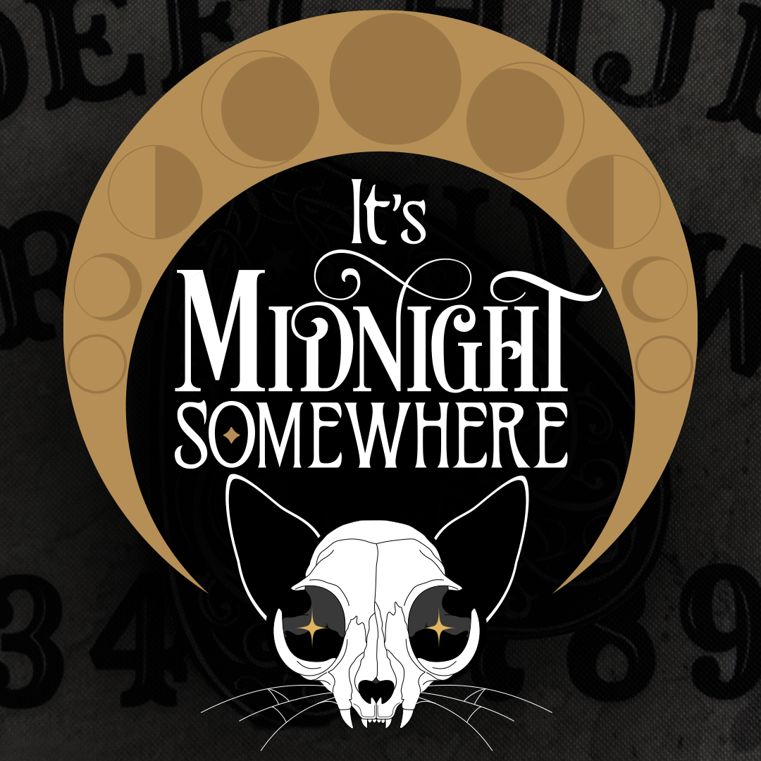 It's Midnight Somewhere podcast logo