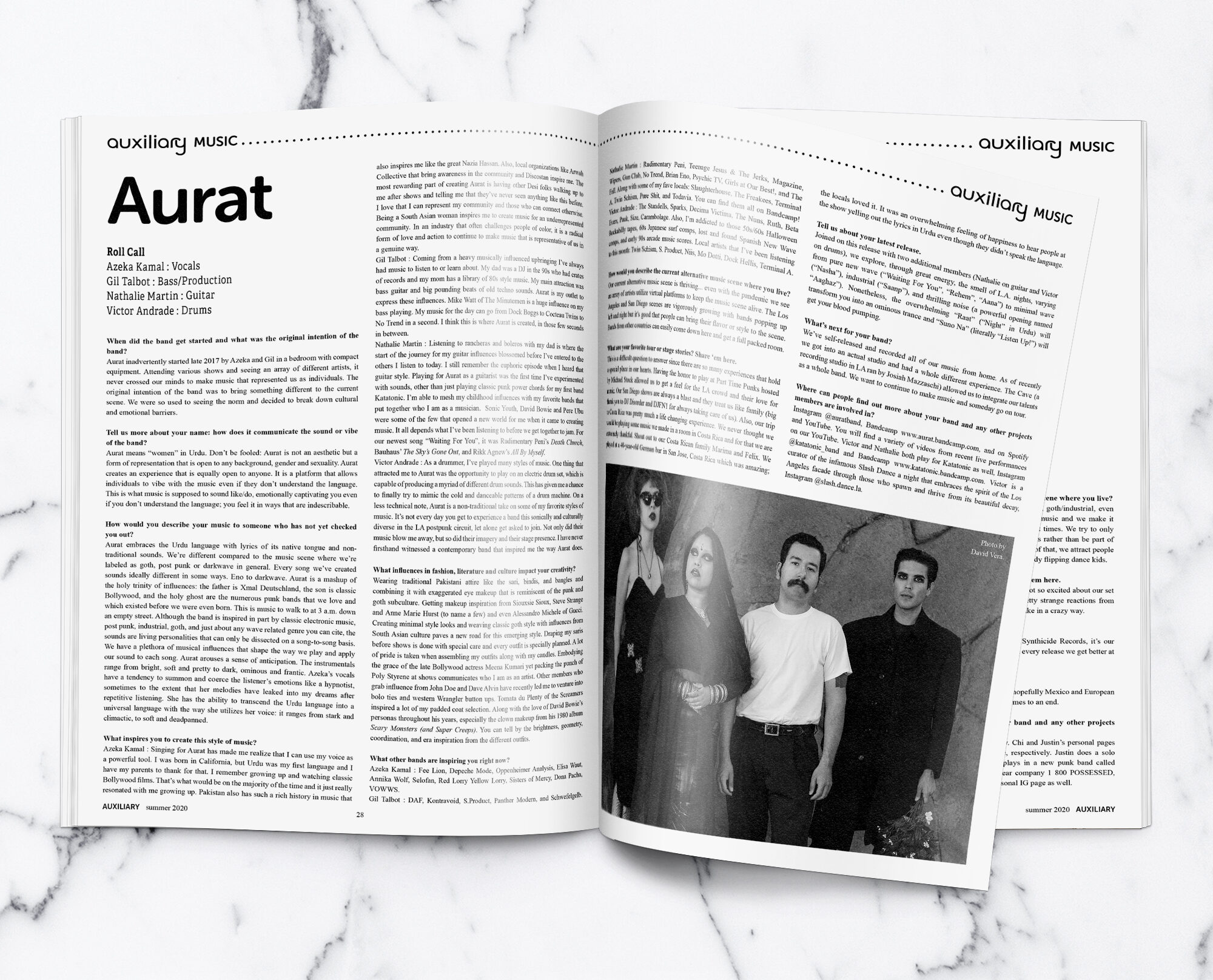 Aurat interview in Auxiliary Magazine