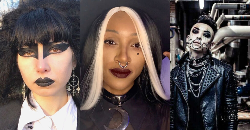 Three of the models in the newest 40 Years of Goth Style video, Global Remake.