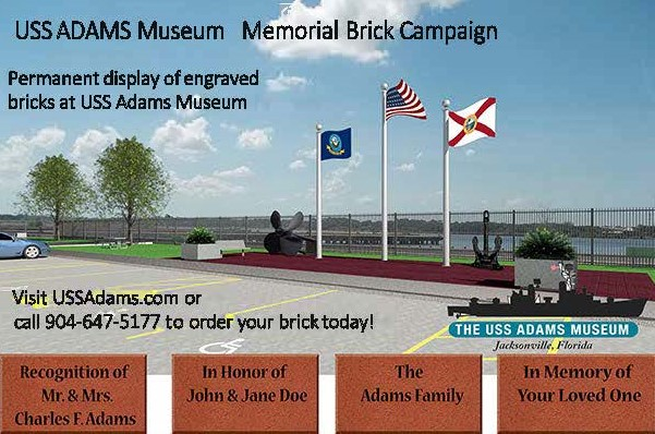 USS Adams Memorial Brick