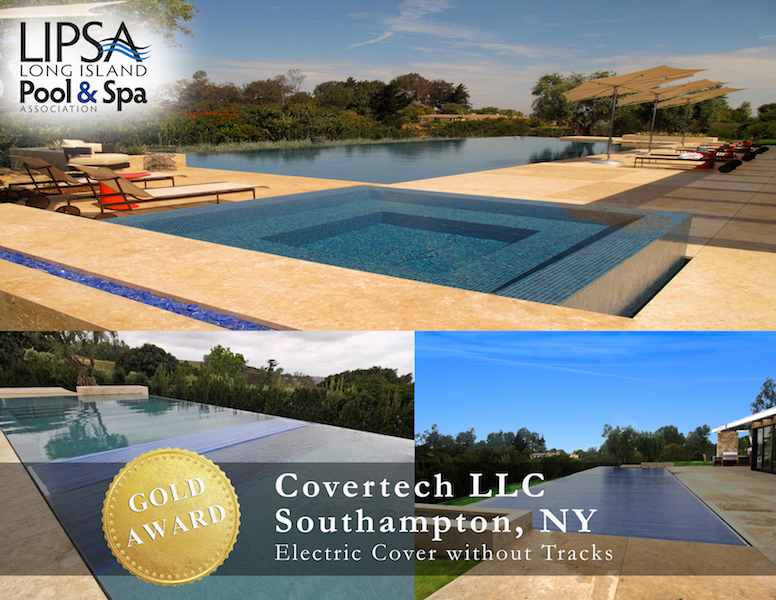 Covertech - Grando automatic rigid free form pool cover GOLD 04 Award LISPA 2015
