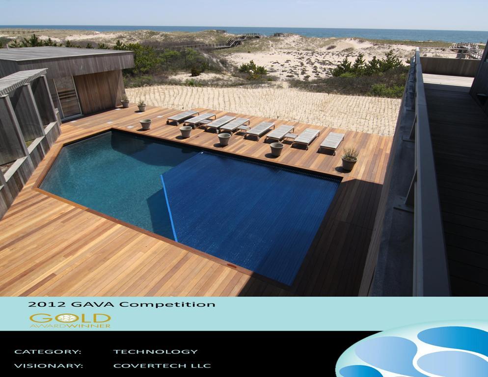 Cubierta rígida automática para piscina Covertech Grando International Pool Cover Gava Gold Award 2012