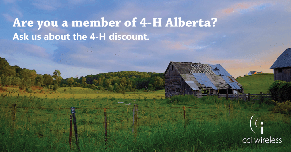 Find out about our discount for 4-H Alberta Families.