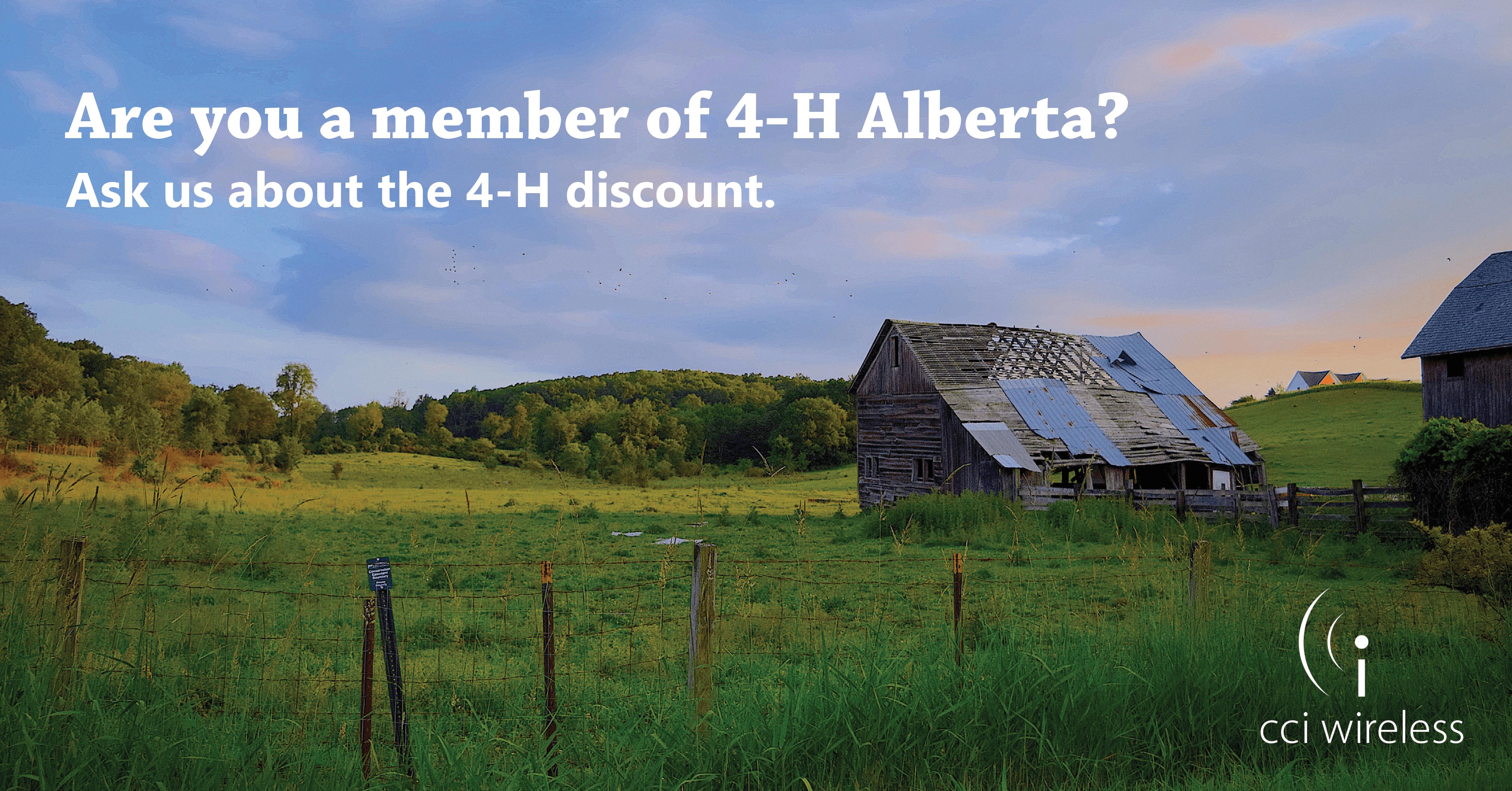 New 4-H Alberta Family Discount