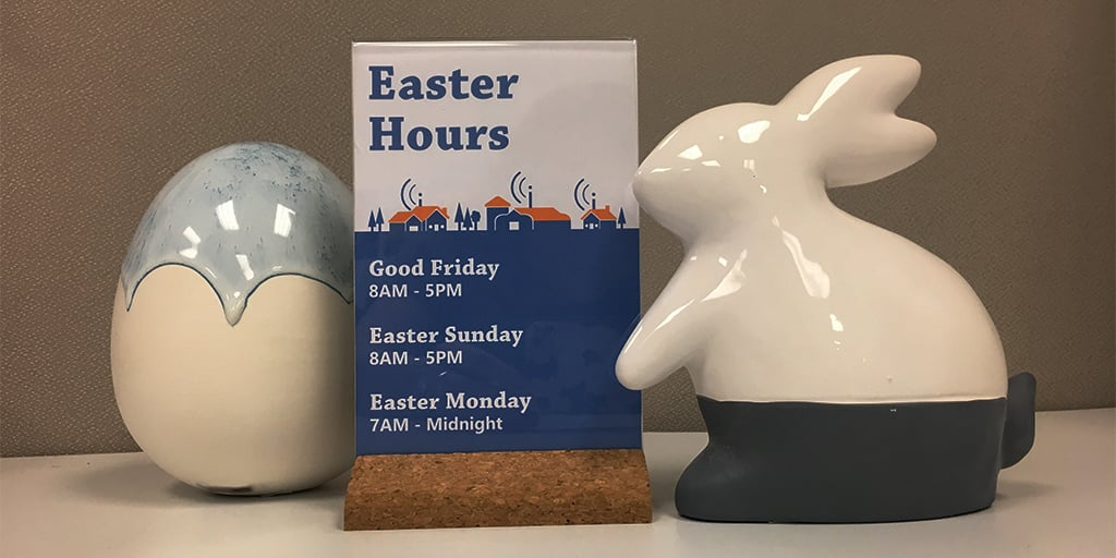 CCI Wireless Easter Hours 2019
