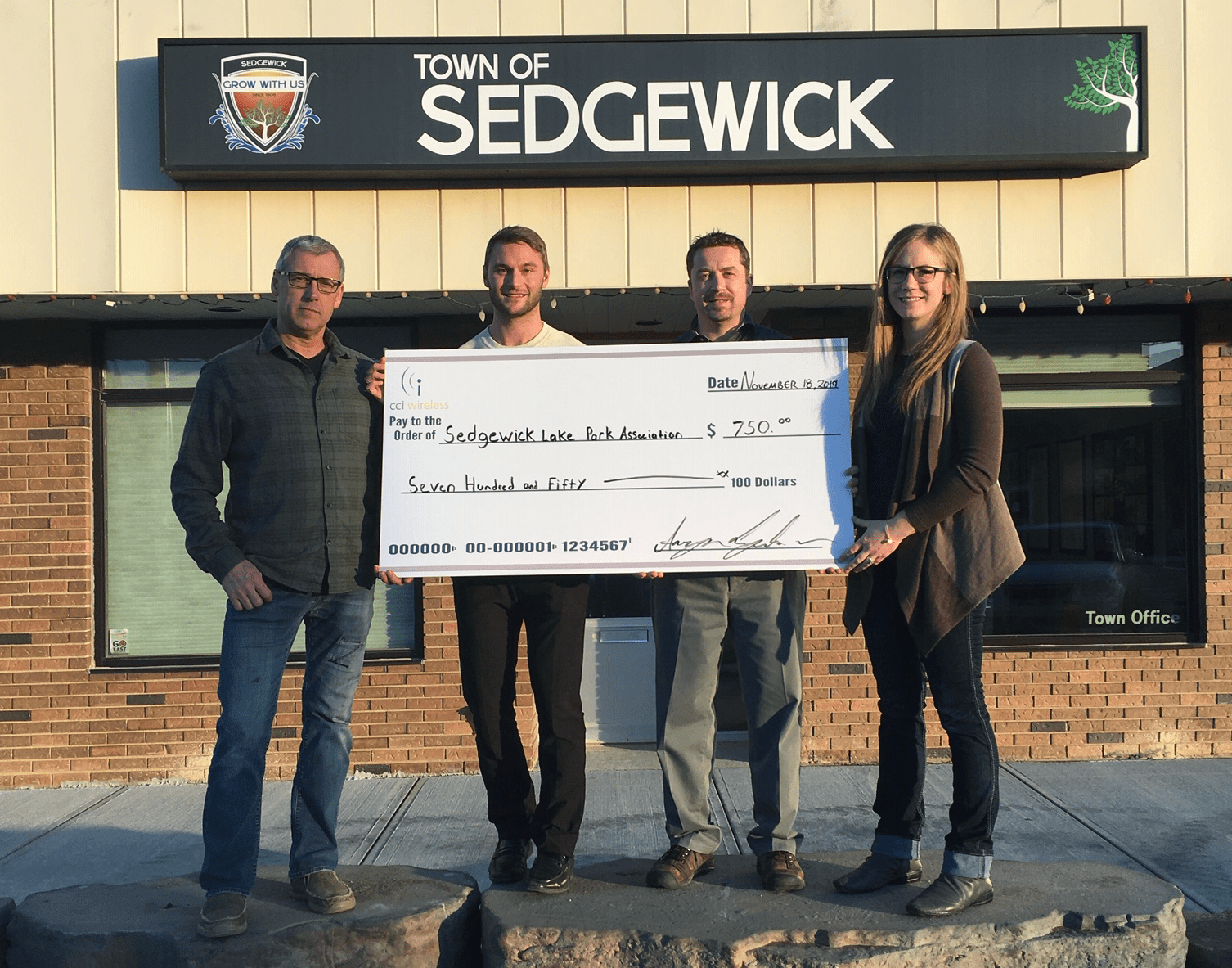 CCI's Community Giveback in 4 Alberta Towns