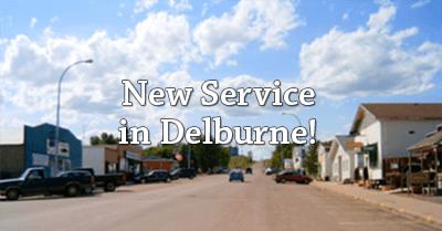 New Service Area: Delburne!