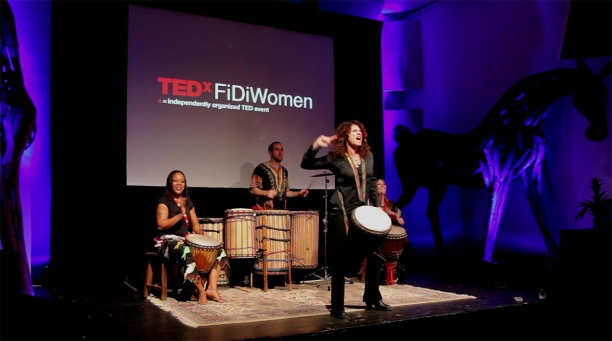 Drum Cafe North America Natalie Spiro TEDx Talk