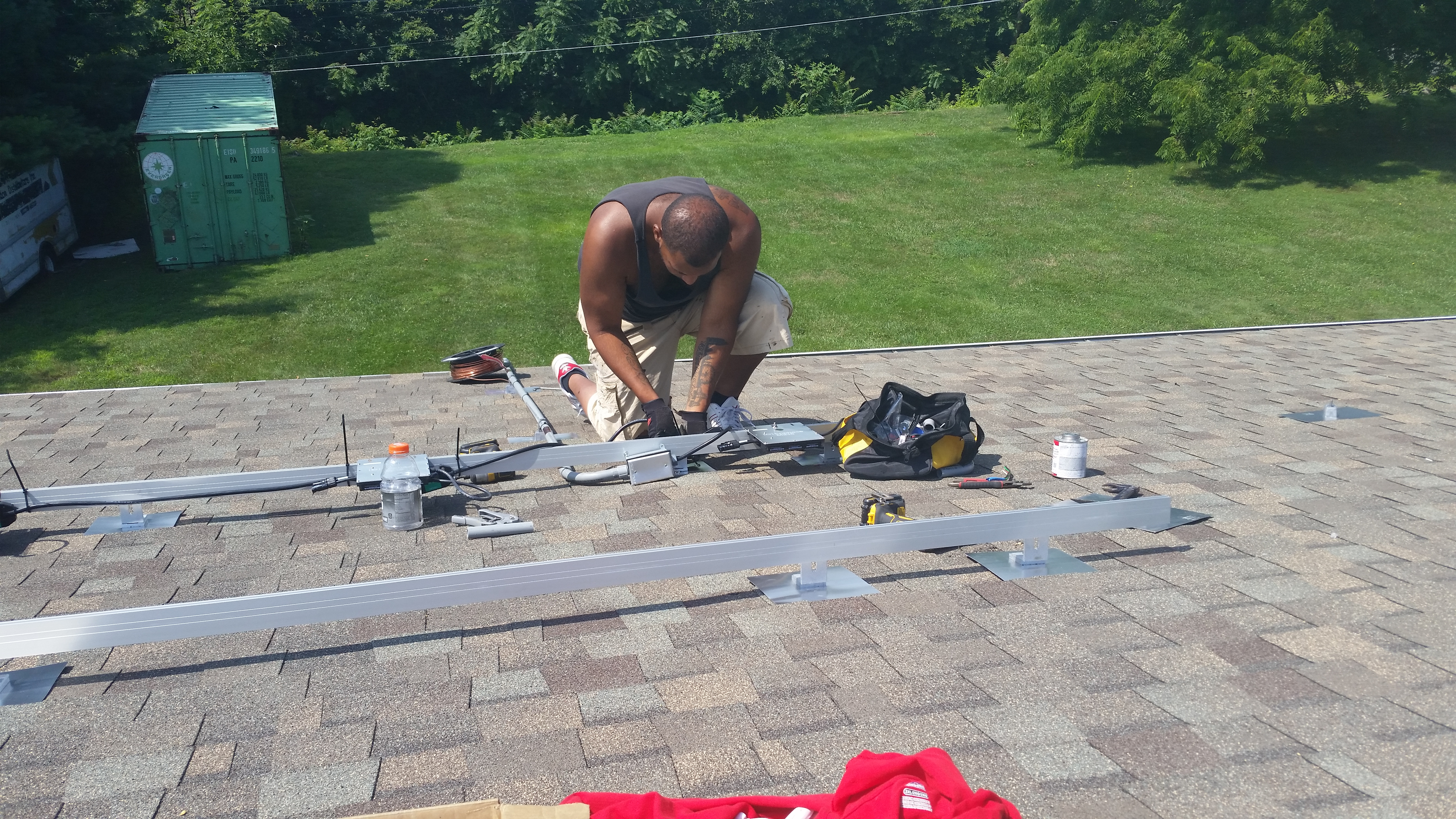 Solar Panel Installation on a Roof in Baltimore, MD