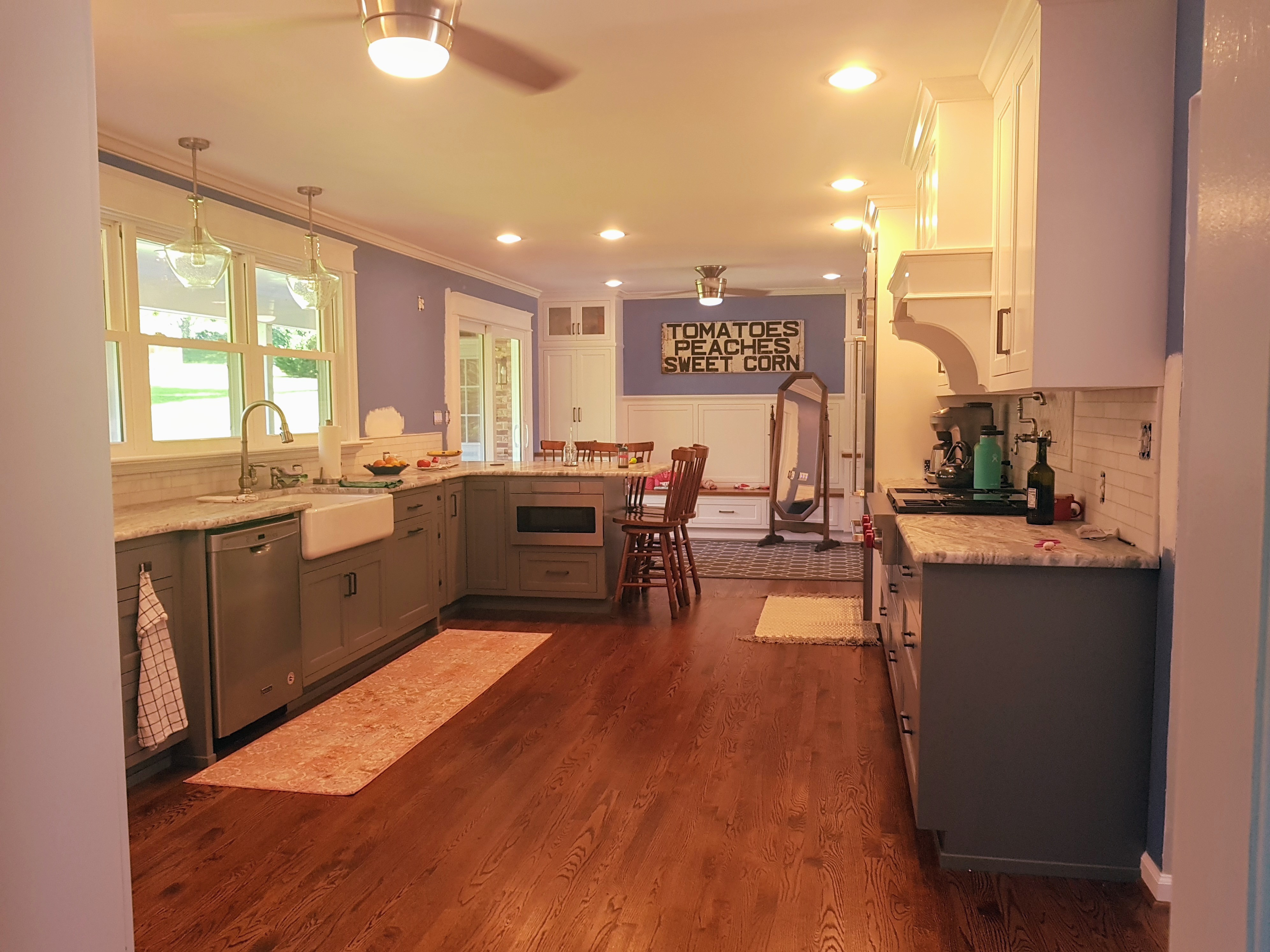 Renovated Kitchen With New Lighting Installed