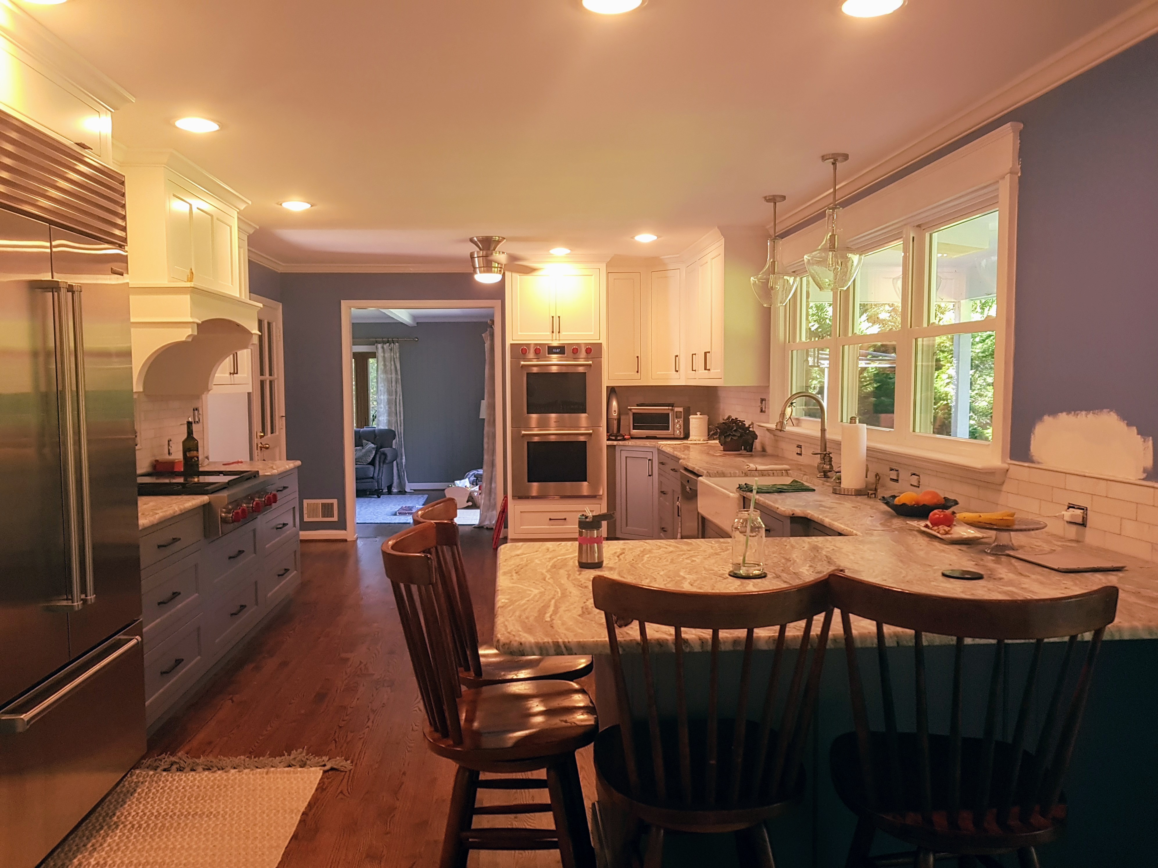 Renovated Kitchen With Recessed Lighting Installed